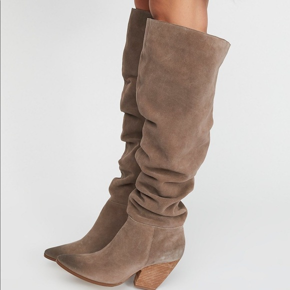 4204a610095c Free People Shoes | Jessie Slouch Over The Knee Boots 10 | Poshmark